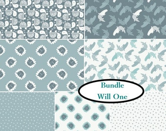 7 prints, 1 of each, Wild One, Camelot Fabrics, cotton