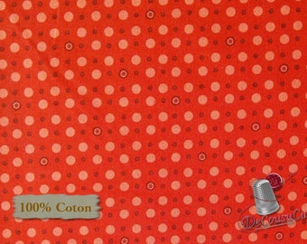 Dot pink, red, Are we there yet? Henry Glass & Co, 6769, 100% Cotton