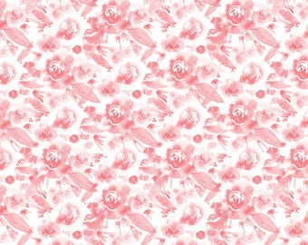 Reverie, rose, 26170105, Indigo Rose, Camelot Fabrics, multiple quantity cut in one piece, 100% Cotton, (Reg 2.99-17.99)
