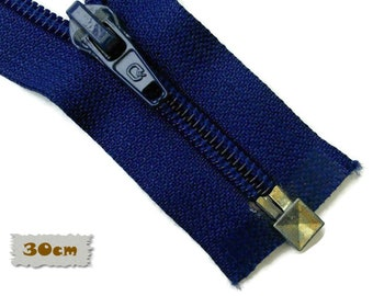 SEPARABLE, 30cm, Royal blue, Zipper, 7E Slider, Clothing, ZS01