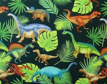 Dinosaur, 100% cotton, cotton quilt, cotton designer