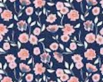 Flower, 8652, Midnight Rose, Riley Blake, 100% Cotton