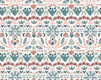 Organic Blooms, Turtle Cove, 21190606, col 01, Camelot Fabrics, 100% Cotton