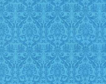 Turquoise, Tapestry, 4186, Timeless Treasures, cotton, cotton quilt, cotton designer