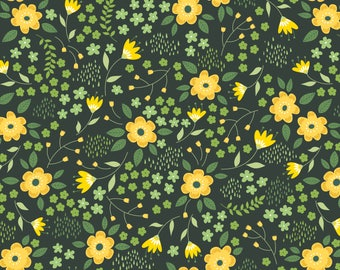 Bright Side, flower, 2240903, col 03, Camelot Fabrics, multiple quantity cut in 1 piece, Cotton