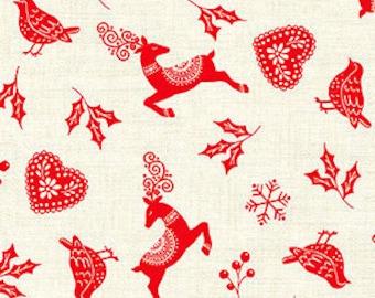 Fabric, Cotton, Scandi, Makower, 2220, Andover