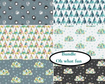 "6 FE 9""X22"", Oh What Fun, Camelot Fabrics, 100% cotton"