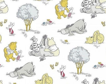 END OF BOLT, Disney, Winnie the Pooh, Togetherish sort of day, Springs Creative, CP65154, 100% Cotton