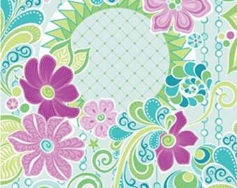Fealure Blue, Free Motion Fantasy, Benartex, 05440, col 50, cotton, cotton quilt, cotton designer