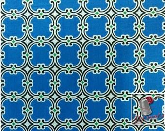END OF BOLT, Kabloom!, 4140905, Camelot Cotton, blue, multiple quantity cut in one piece, 100% Cotton