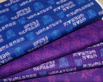 Bundle, 4 prints, Transformers, Camelot Fabrics, Quilt cotton