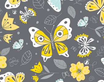 END OF BOLT, On the wing, Flutter & Buzz, 6141801-03, Camelot Fabrics, multiple quantity cut in one piece, 100% Cotton