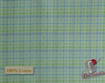 Green, blue, Benartex, Jackie Clark, 02490, multiple quantity cut in one piece, 100% Cotton, (Reg 3.99 - 17.99)