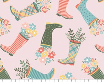 Rain boot, Wish for Rain, 89191002, col 03, Camelot Fabrics, 100% Cotton