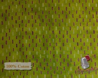 Dreamer, Dash, olive, cream, 100% coton, Windham Fabrics, Dreamer, by Carrie Blomston, 42572, Pueblo Stripe, (Reg 3.99 - 17.99)
