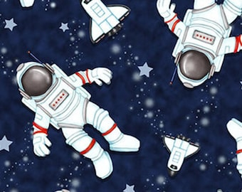 Space Walk, 1800, Henry Glass & Co, multiple quantity cut in 1 piece, (Reg 2.99-17.99)