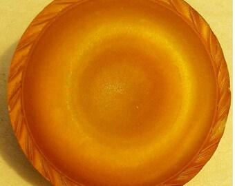 28mm, Button, Orange, Ambre, vintage, top 11mm, button with stem, button coat, decorative button