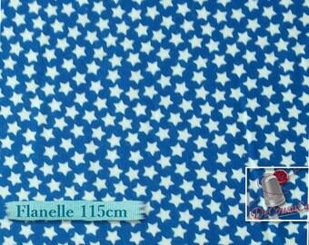 """50%, Flannel, Star,  Fat quarter, 182X22"""", (45cm x 55cm), white, royal blue, Cotton, multiple quantity cup in a pièce"""