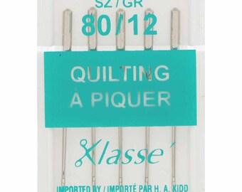 KLASSE, Quilting Needles, Cassette, Size 80/12, 5 count