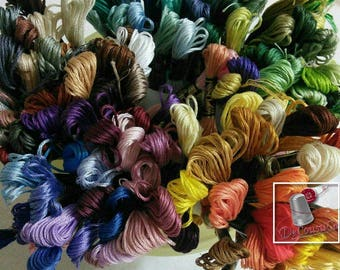 Embroidery, thread, DMC, Mouliné 25, art 117 No. 25, 8 meters each skein,cotton, colors differents