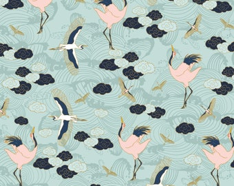 Birds, 29180201, col 02, Mistic Cranes, Camelot Fabric, quilt cotton