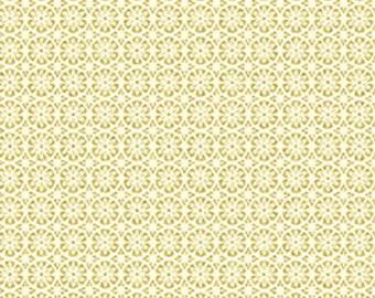Flower, Gold metallic, ivory, Metallic Mixers, Benartex, 7720M, cotton, cotton quilt, cotton designer