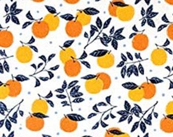 Orange, white, 38180601, col 01, La Dolce Vita, Laura Ashley, Camelot Fabrics, 100% Cotton, (Reg 2.99-17.99)