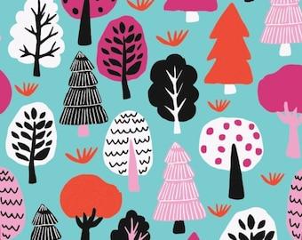 Forest in Aqua, 31170102, col 02, Neighbourhood, Camelot Fabrics, 100% Cotton, (Reg 2.99-17.99)