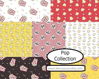 Bundle, 7 prints, Pop Collection, Camelot Fabrics, Bundle, 1 of each print, quilt cotton