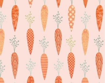 Carrot, Bunny Tales, Lucie Crovatto, Studio e, 3552, multiple quantity cut in one piece, 100% Cotton