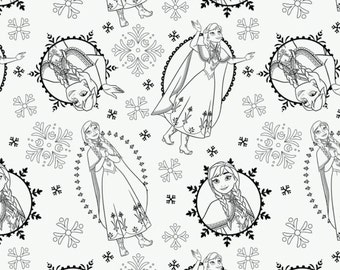 Disney, Reine des Neiges, 85190203, col 01, Frozen Coloring Collection, 100% Cotton