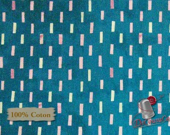 Dreamer, Dash, teal, cream, 100% coton, Windham Fabrics, Dreamer, by Carrie Blomston, 42572, Pueblo Stripe