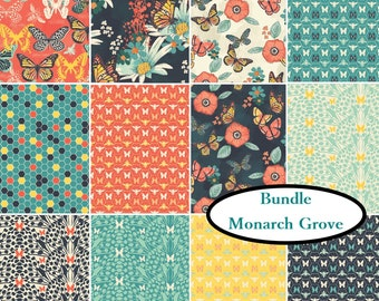 12 prints, Monarch Grove , Camelot Fabrics, 100% Cotton, quilt cotton