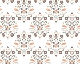 Damask, White, 2144704-02, Camelot Fabrics, multiple quantity cut in one piece, 100% Cotton