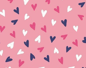 Hearts, pinks, Summer Days, Laura Ashley, 71190302, col 01, Camelot Fabrics, cotton, cotton quilt, cotton designer