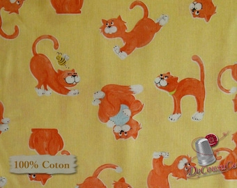 Cat, World of Susybee, Hamil Textiles, 5820247, multiple quantity cut in 1 piece, 100% Cotton