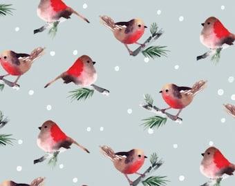 Birds, blue, 26180203J, col 01, Camelot Fabrics, 100% Cotton, (Reg 5.29 -22.95)