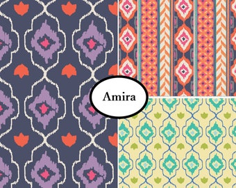 Bundle, 3 prints, Amira, Camelot Fabrics, 100% Cotton, quilt cotton