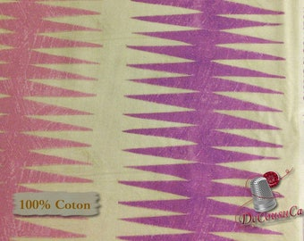 Dreamer, pink, mauve, cream, 100% coton, Windham Fabrics, Dreamer, by Carrie Blomston, 42571, Pueblo Stripe