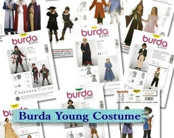 Burda, young, costume, 3-14jun, new, uncut
