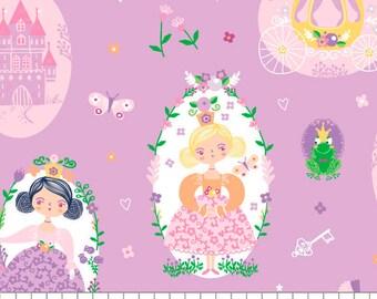 Princesses, Once Upon a Time, 91190201, col 02, Camelot Fabrics, cotton, cotton quilt, cotton designer