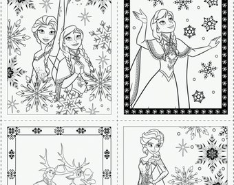 Disney, Reine des Neiges, 85190201, col 01, Frozen Coloring Collection, 100% Cotton