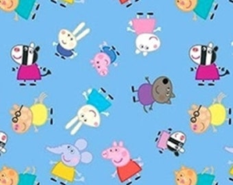 Peppa Pig, Peppa and friends, Springs Creatives, CP65898, 100% Cotton, quilt cotton