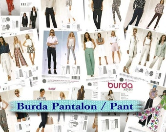 9 models, Burda, Pants, 6-24, new, uncut, (Reg 6.99-14.99)