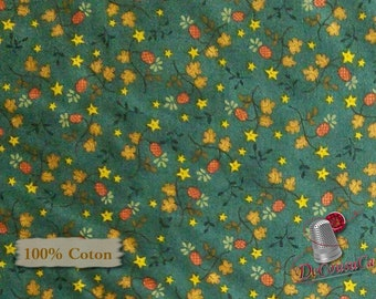 Flower automn, Katie's Cupboard, Kim Diehl, Henry Glass & Co, 6676, multiple quantity cut in one piece, 100% Cotton, (Reg 2.99-17.99)