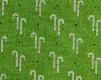 Candy cane, green, Cozy Christmas, 7970, Riley Blake, fabric, cotton, quilt cotton