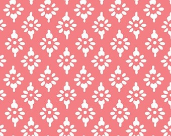 Hannah geo, pink, 71180306, col 01, By The Sea, Laura Ashley, Camelot Fabrics, 100% Cotton, (Reg 2.99-17.99)