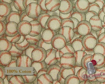Baseball ball, Édition Fabric, multiple quantity cut in one piece, 100% Cotton