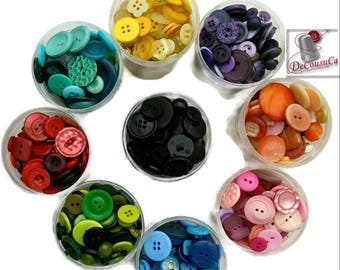 50 VINTAGE Buttons, 1980-2000, moda, vintage, basic, classic, with gold, basic, 10-25mm, 2 & 4 holes, BM61