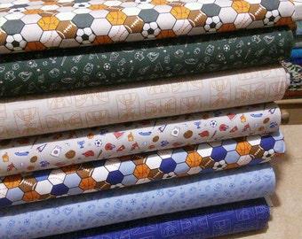 Bundle of 7 prints, All Star Sports, Camelot Fabrics, Bundle, 1 of each print